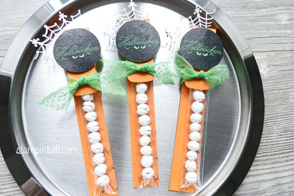 Halloween Zwischen den Zweigen Stampin´ Up! Zellophantüten schmal Trick or Treat Goodies